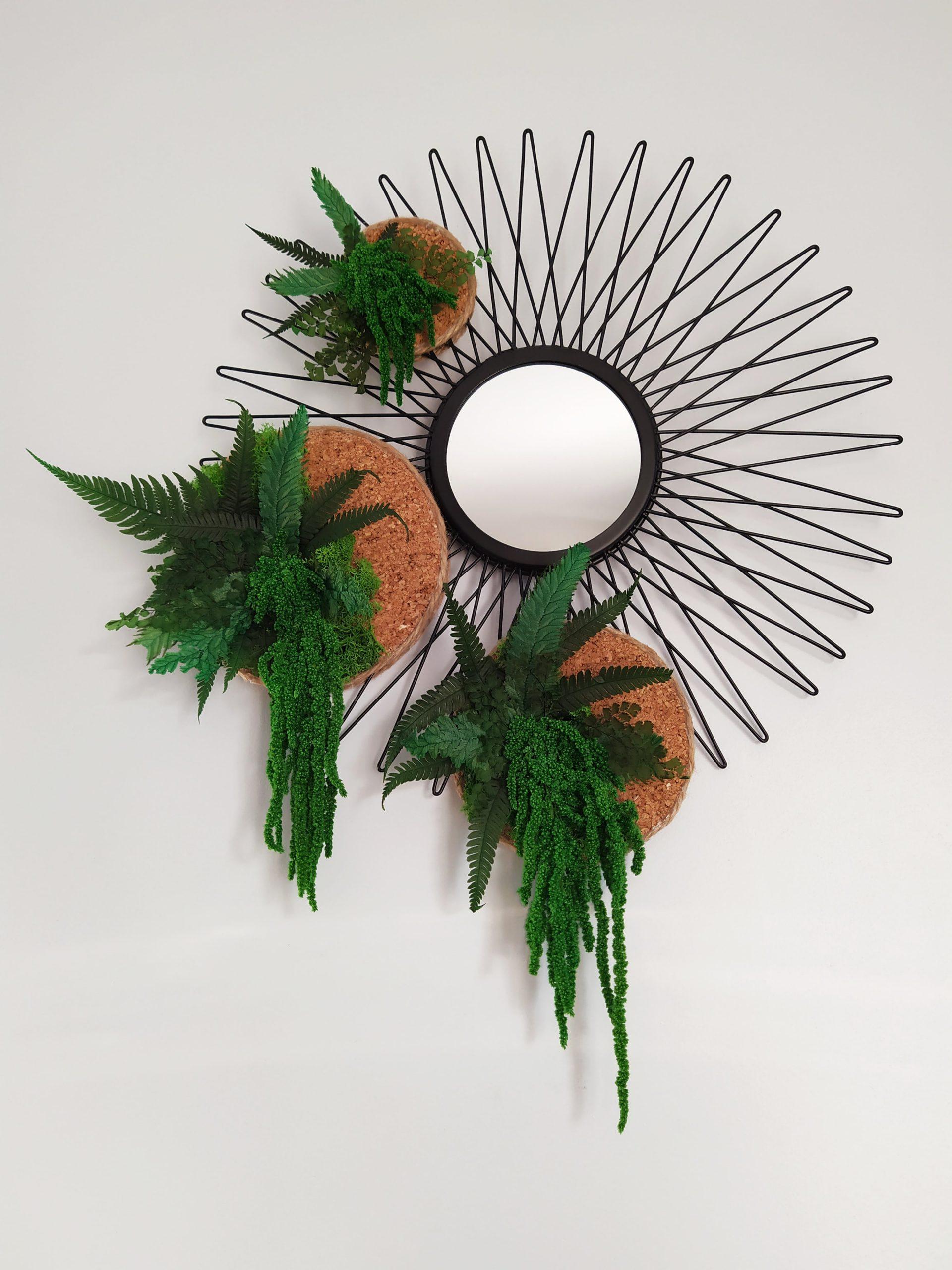 Miroir végétalisé chute-réf.77/78/79