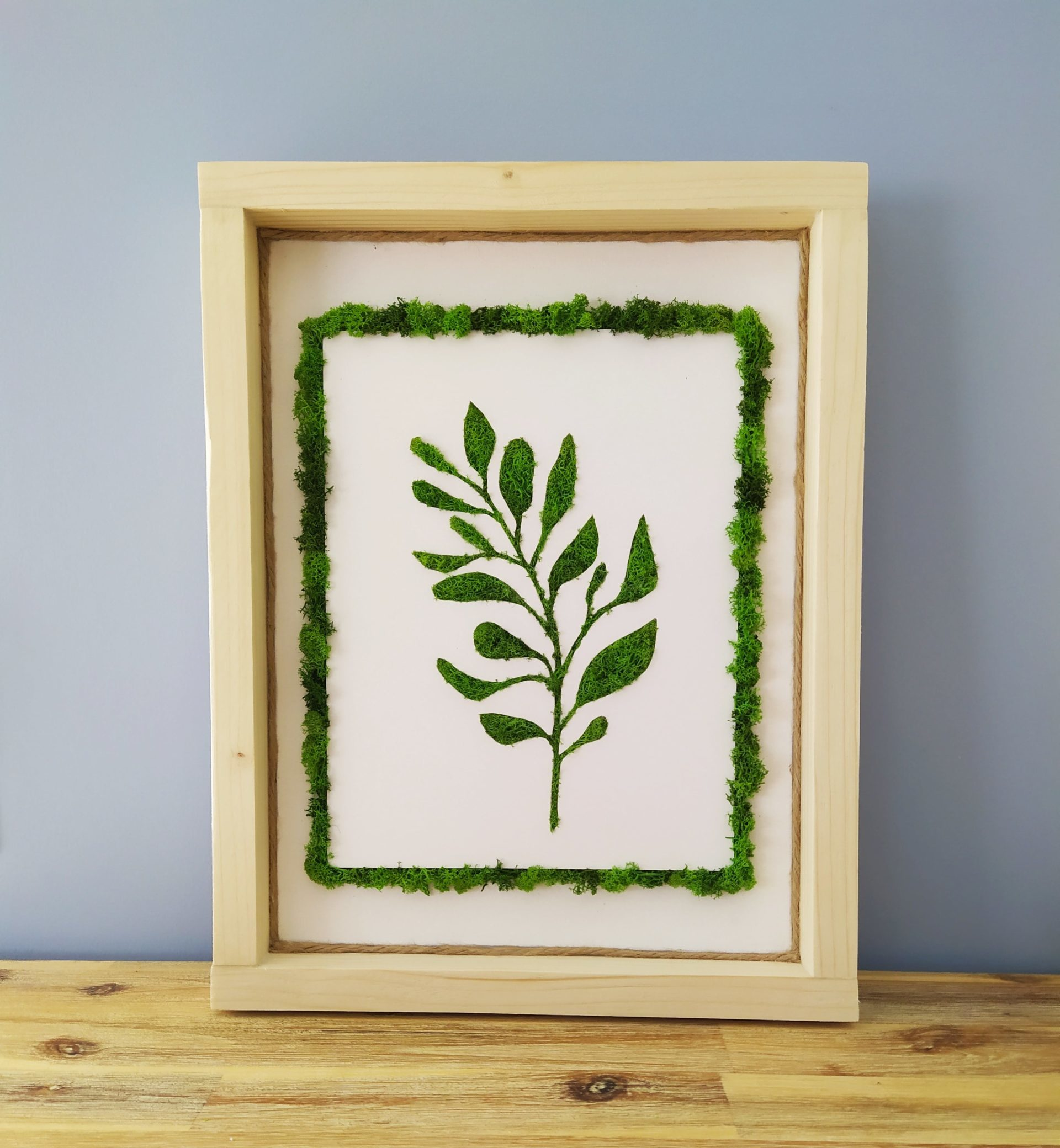 Cadre feuille eucalyptus